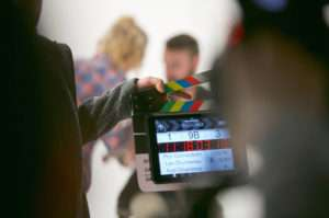 This is an image of a scene being shot by a production company in the Sacramento, California area.